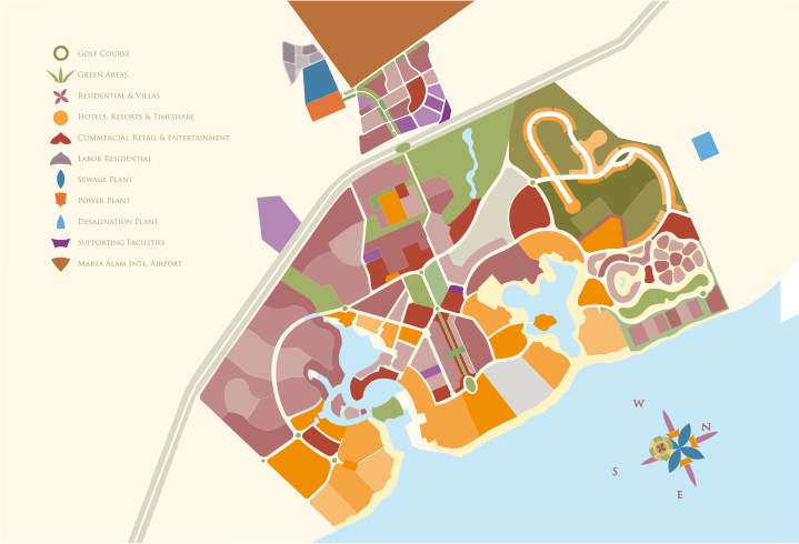 Port Ghalib Business And Investment - Map of egypt marsa alam