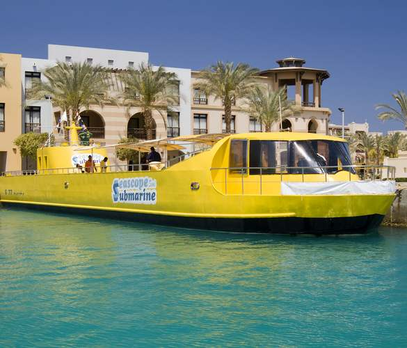 Go on a fantastic excursion under water . You can clearly observe and take pictures of the Red Sea's most famous corals, fish and amazing marine life. Enjoy the large panoramic windows sitting in your personal swivelling chair and you'll sure not miss a thing. Sea Scope can accommodate visitors in a safe and air-conditioned area. So get aboard for an unforgettable adventure.